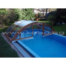 Подвижно покривало за басейн Klasik  A  CLEAR 3  модула